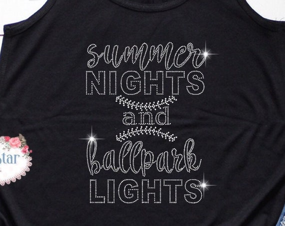 Summer Nights And Ball Park Lights, Baseball Mom Tank, Baseball Mom Gift, Mom Shirt, Baseball Mom Shirts