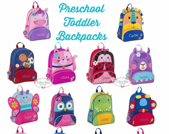 Toddler Backpack lunchbox Preschool Backpack Personalized Toddler Backpack Stephen Joseph Unicorn Backpack Diaper Bag