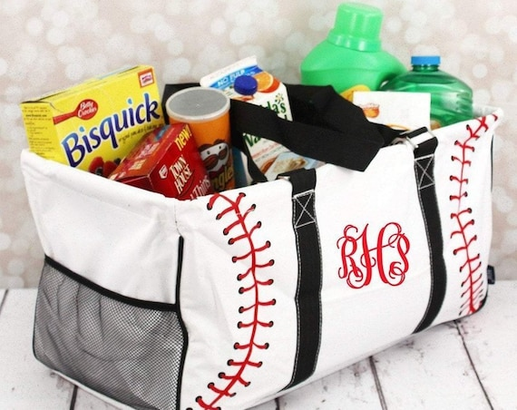 Baseball Tote, Baseball Mom Bag, Baseball Mom Tote <baseball Carry All , Baseball Mom Gift , Baseball Mom Bag , Baseball Bag