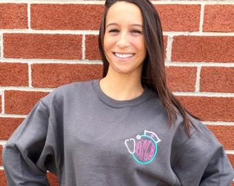 Nurse Sweatshirt , Nurse Gift, Monogrammed Nurse Shirt, Nurse Appreciation Gift, Nurse Hoodie , Nurse Tshirt
