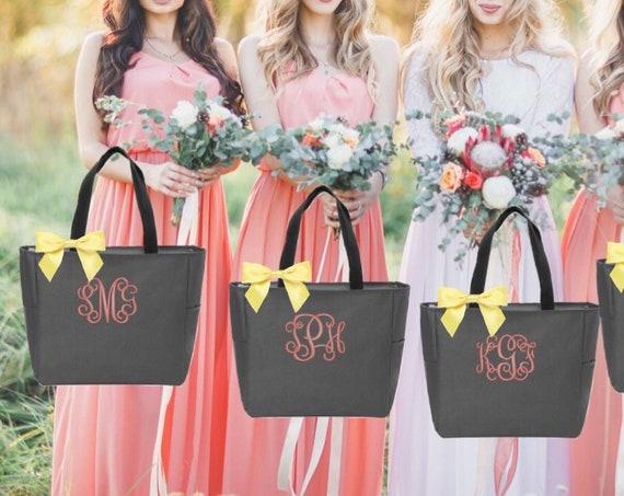 Monogrammed Tote Bag Bridesmaid Tote Bags Monogrammed Bridesmaid Totes Personalized Tote Bags Monogrammed Tote Bride Tote Bag