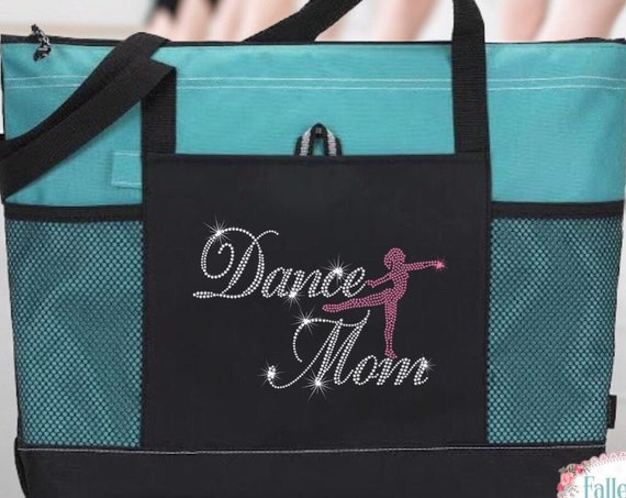 Dance Mom Bag, Dance Bag, Mom Dance Bag, Bling Dance Bag, Gifts For Her, Dance Class Bag, Rhinestone Bling Dance Tote Bag