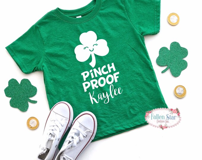 Kids St Patricks Day Shirt , Pinchproof Kids St Pattys Day Tee , Kids St Patricks Day T Shirt ,