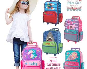 Stephen Joseph Rolling Luggage, Personalized Kids Luggage, childs  personalized luggage, stephen personalized kids bag, kids luggage 844aad7577