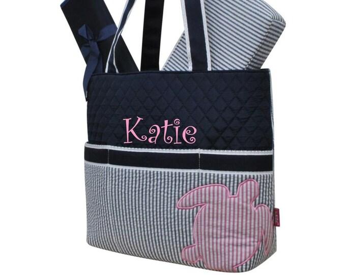 Diaper Bag, Girls Diaper Bag, Personalized Diaper Bag, Monogrammed Diaper Bag, Baby Shower Gift, New Mom Gift, Gifts For Her , Seersucker