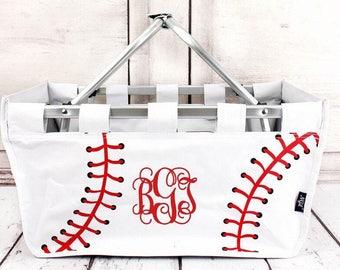Personalized Baseball Market Tote  , Baseball  Mom Market Tote , Baseball Mom Carry All , Baseball Bag,  Baseball Mom Bag
