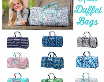 Kids Duffle Bag , Girls Personalized Duffle Bag , going to grandmas , boys overnight bag , teen Duffle, kids travel bags