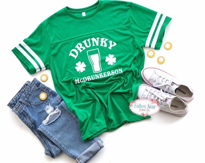Mens St Patricks Day Shirt, Irish Tee Shirt, Womans St Patricks Day Shirt, Shamrock Shirt, Drunky Mcdrunkerson