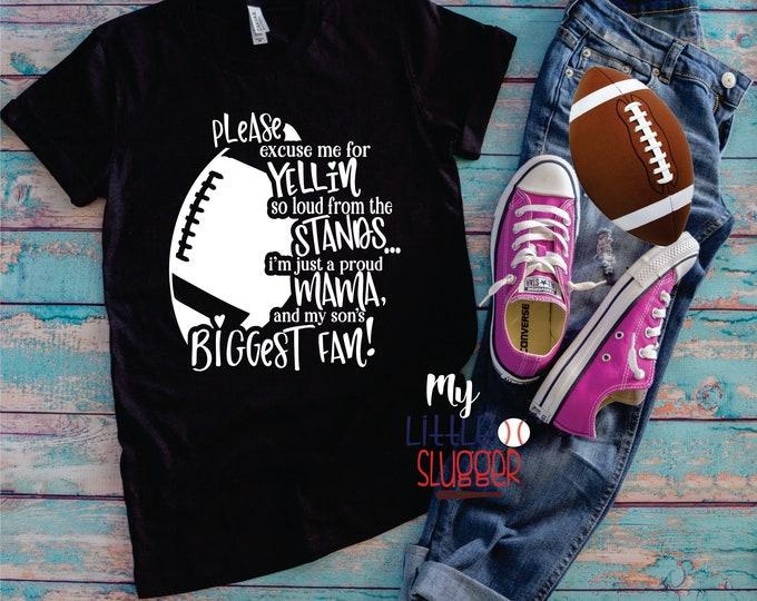 Yelling mom biggest fan, football mom hoodie, football tank, football mom shirt, football mom sweatshirt, funny football mom tee