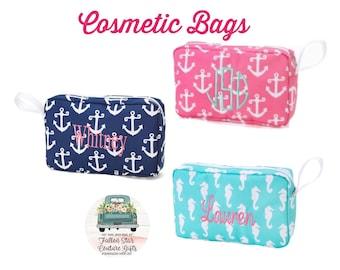 SALE Girls Makeup Bag, Monogrammed Makeup Bag, Girls Cosmetic Bag , Tween Gifts, Gifts for Girls, Teen Christmas Gifts