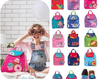 Kids QUILTED backpack , toddler back back , toy bag , preschool backpack ,  stephen joseph backpack , personalized kids bag 19b08b9966