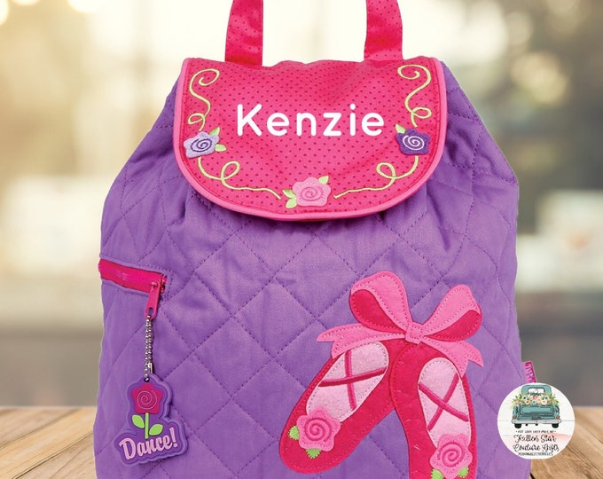Clearance Ballet backpack , toddler back back , Dance Bag , Ballet Class, preschool backpack , stephen joseph backpack