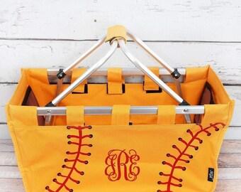 Softball mom bag, softball market tote bag, softball mom gift, softball mom carry all bag, softball market tote, gifts for softball