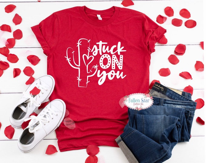Valentines Day Shirt , Hugs and Kisses , Kids Valentine, Galfriend, anti Valentines Day, Funny Mom shirt , XOXO, i Love you day,stuck on you