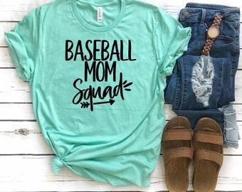 Baseball mom squad, Baseball mom tee, baseball mom shirt, baseball mom TANK, Sports mom T-shirt, baseball mom gift, baseball mom hoodie