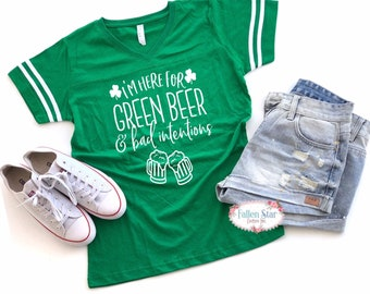 Ladies St Patricks Day Tank , Irish Tee Shirt, Womans St Patricks Day Shirt, Green Beer