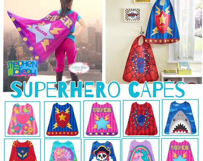 Personalized Superhero Cape, Kids Cape, Super Hero Capes, Pretend Play, Personalized Cape, Kids Superhero Cape, Gifts for Toddlers