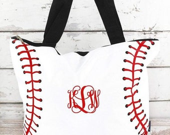 Personalized Baseball tote bag , baseball moms tote bag, sports tote, sports mom bag, monogrammed baseball tote, womans baseball tote