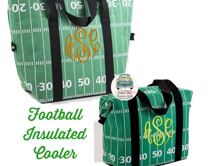 Football Beer Cooler, Insulated Cooler , Football Lover Gifts, Football Mom Gift, Beach Cooler, Mens Beer Cooler , Mens Gifts ,Gifts For Men