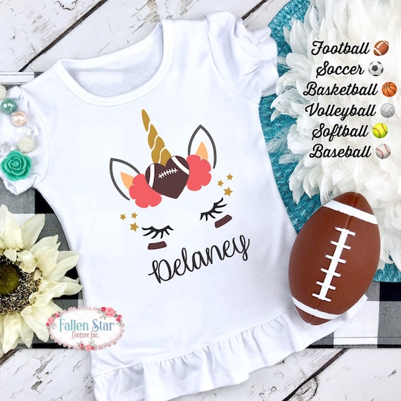 Football Sister Shirt , Football Unicorn Shirt, Football Little Sister Shirt ,Little Sister Football  Shirt , Unicorn Shirt, Unicorn Gift