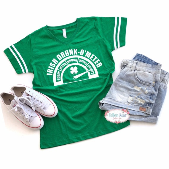 St Patricks Day Shirt ,Ladies St Paddys Day Shirt, Irish Shirt, Green Shirt , Womans St Patricks Day Shirt, Drunkometer