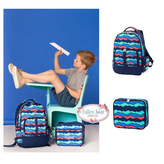BOYS personalized backpack , Back To School , kids back pack , lunch box,  monogrammed backpack , boya backpack, OVERLOOK