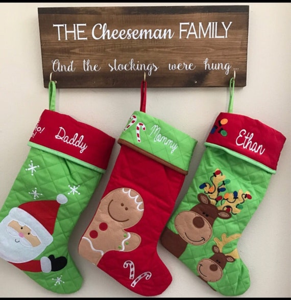 Personalized christmas stocking , STEPHEN JOSEPH , christmas tree stocking , family christmas stockings , kids stocking , monogram stocking