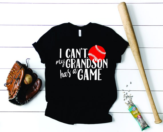 Baseball Grandma Tee -  Baseball Grandma Tank -  Softball Grandma Tank Top - Funny Baseball Grandma Tank Top - I Cant My Grandson Has a Game