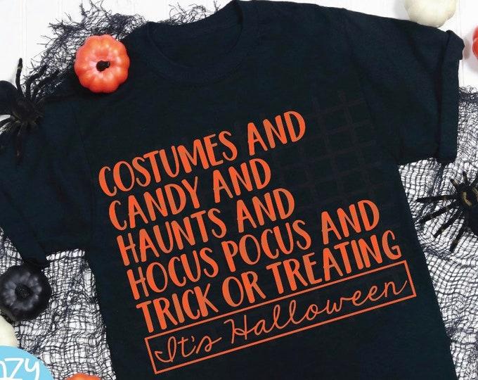 It's Halloween , Halloween tee , Halloween Shirt , Halloween Costume Shirt , Ladies Halloween , Pumpkin Shirt