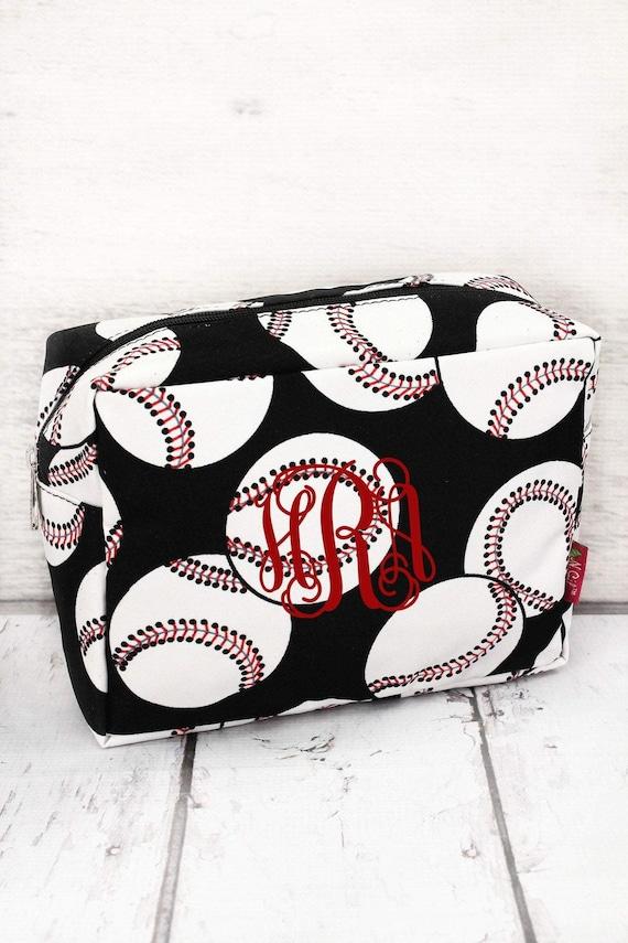 Baseball Bag , Baseball Cosmetic Case , Baseball Mom Bag , Sports Mom Bag , Baseball Makeup Bag