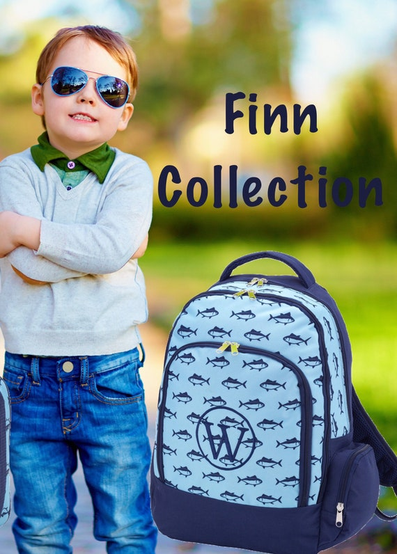 BOYS personalized backpack , Back To School , kids backpack , lunch box,  monogrammed backpack , BOYS backpack, FINN