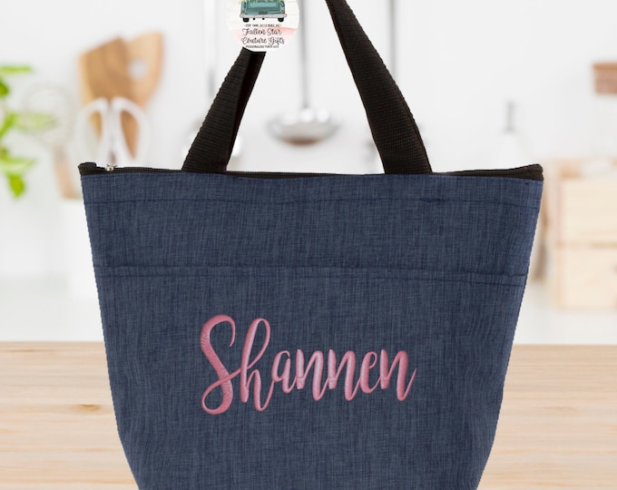 Personalized Lunch Box , Lunch Tote, Lunch Bag, Back To School , Insulated Lunch Bag , Monogrammed Lunch Bag, Teacher Lunch , Nurse Lunch