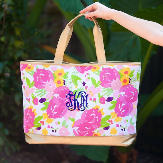 Large Cabana Tote, Personalized Beach Bag , Monogrammed Beach Bag , Vacation Tote, Cruise Tote Bag ,Monogram Bag , Personalized Tote