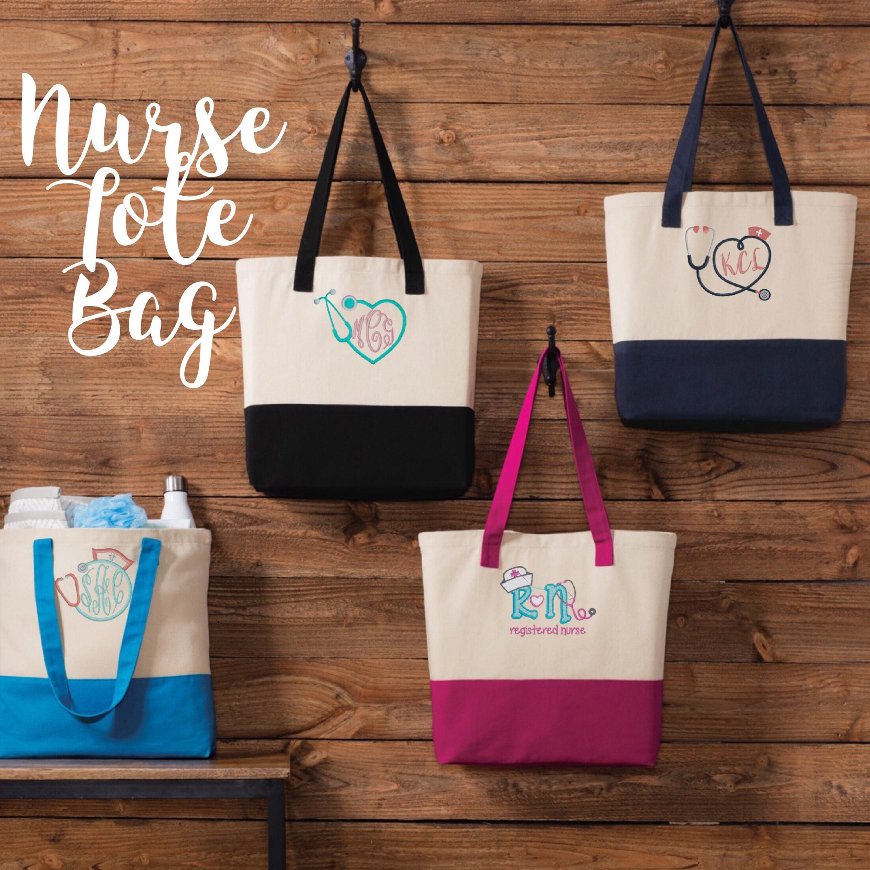 Nurse Tote Bag \\ Nurse Gift \\ Stethescope Tote \\ Nurse Tote Personalized \\ Nurse Gift Ideas \\ Nurse Gift Bag \\ Nurse Gift Woman & Nurse Tote Bag \\ Nurse Gift \\ Stethescope Tote \\ Nurse Tote ...