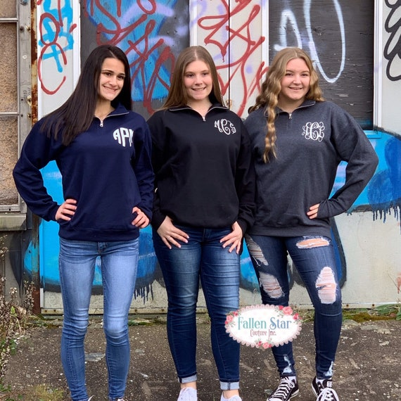 Monogram Quarter Zip, Monogram Sweatshirt , Gifts for Teens , Personalized Sweatshirt, Sorority Sweatshirt , Monogram , Gifts For Her