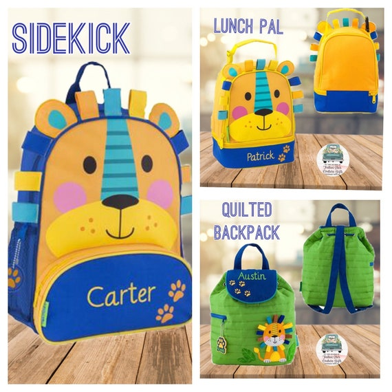 Lion backpack, boys lunchbox, preschool backpack, preschool lunchbox, toddler backpack, Boyd backpack, lion lunchbox, toddler boy gift