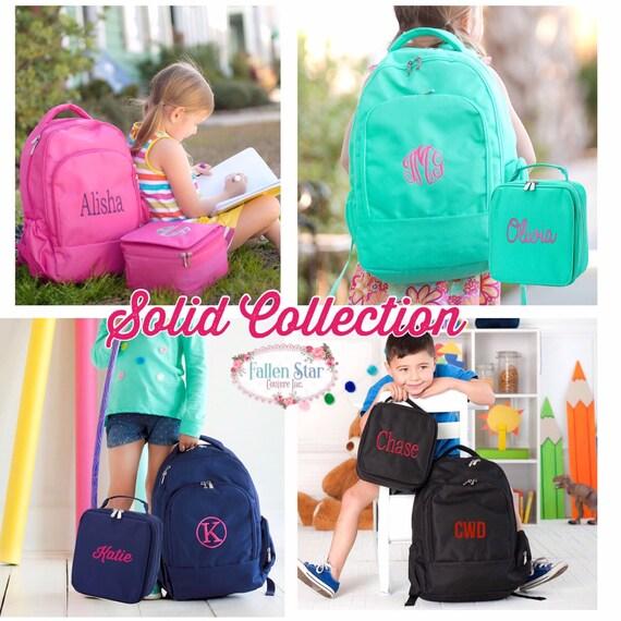 Kids Backpack, Boys Lunchbox, Girls Backpack , Girls Lunchbox , Back To School , Personalized Backpack , Monogrammed Backpack