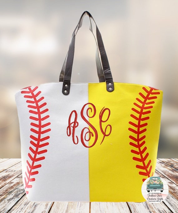 Personalized Baseball Softball  bag , baseball moms tote bag, sports tote, sports mom bag, monogrammed baseball tote, womans softball tote