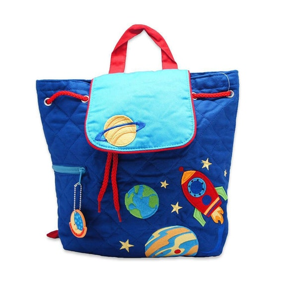 Clearance , SPACESHIP backpack , toddler back back , toy bag , preschool backpack , stephen joseph backpack , personalized kids bag, Quilted