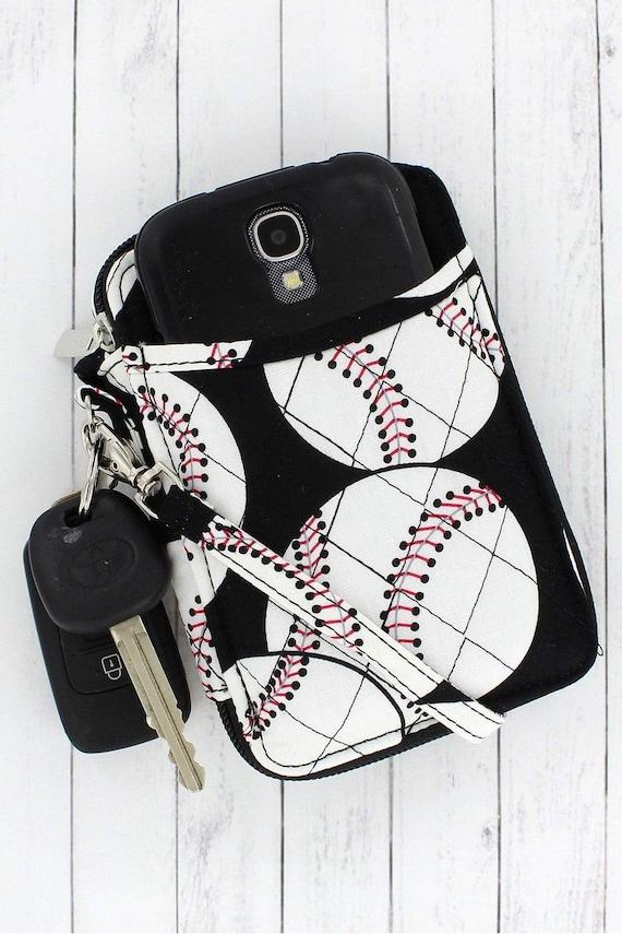 Baseball Wristlet , Baseball Mom Gift, Baseball Wallet , Baseball Mom Accessories , Travel Baseball Mom, Little League Mom , Cooperstown