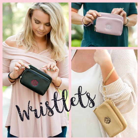 Monogrammed Wristlet , Phone Wristlet, Personalized Wallet, Monogrammed Phone Holder, bridesmaid gift , Phone Holder