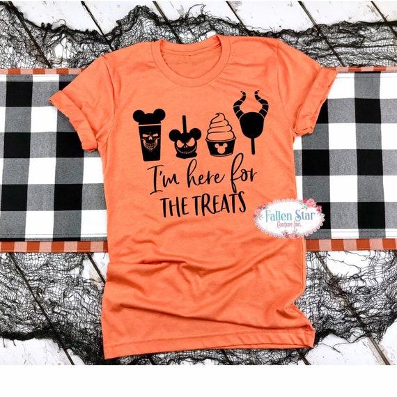 Halloween Disney shirts, Disney Halloween family shirts, Disney shirts, Disney family shirts, Disney pumpkin shirts, Here for the Treats