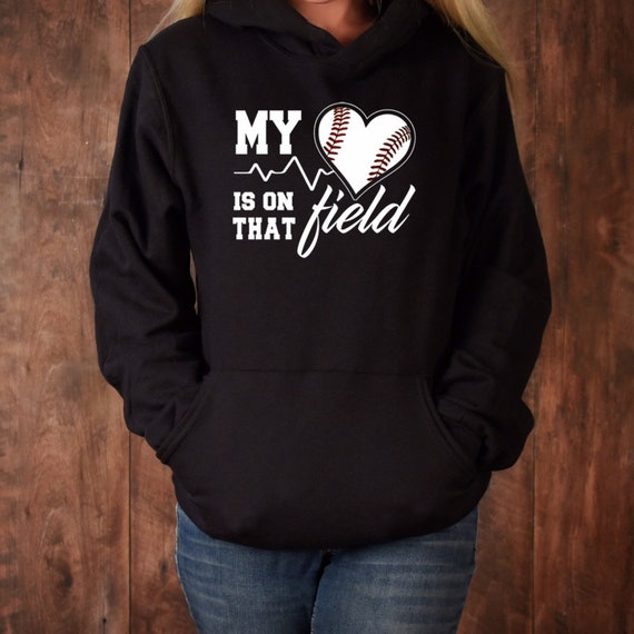 Softball mom hoodie, softball mom shirt, softball mom tank top, gifts for softball moms, softball mom apparel , My heart is on the field