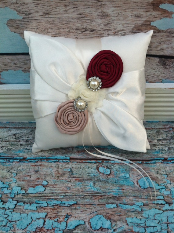 RING BEARER PILLOW / personalized ring bearer pillow , rustic wedding , barn yard ,wedding pillow , wedding pillow