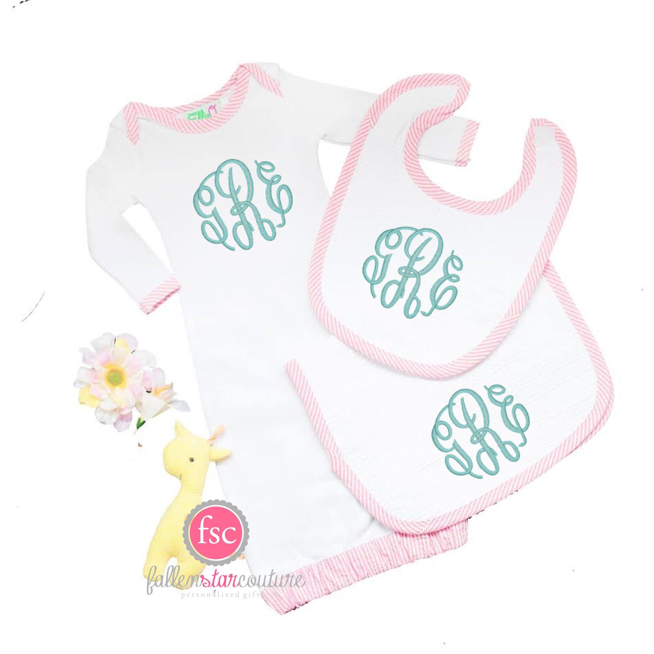 Newborn Gifts , Monogrammed Baby Gift , Personalized Newborn Gift ...
