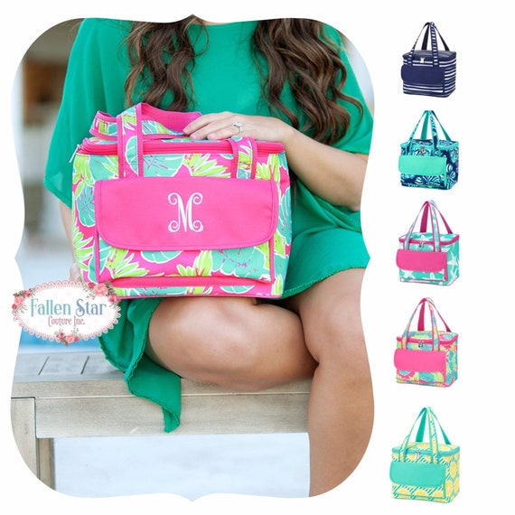 Teacher Gifts ,Monogrammed Cooler Bag, personalized Cooler Bag , Beach Cooler bag , lunch bag, Bridesmaid gift, Personalized Beach Bag