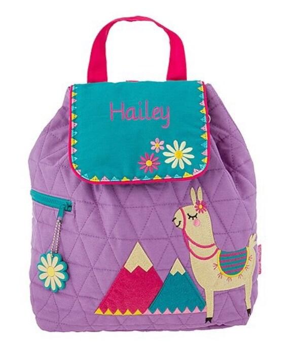 Clearance LLAMA backpack , toddler back back , toy bag , preschool backpack , stephen joseph backpack , personalized kids bag