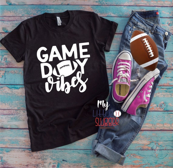 Game Day Vibes , football mom hoodie, football tank, football mom sweatshirt, funny mom tea