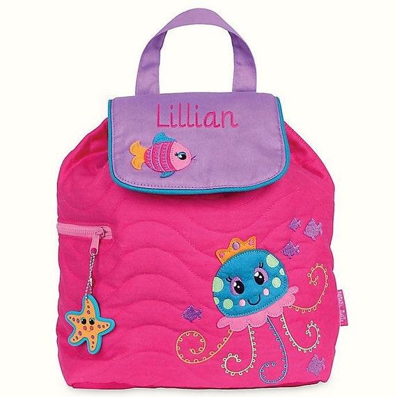 Clearance , Jelly Fish backpack , toddler back back , toy bag , preschool backpack , stephen joseph backpack , personalized kids bag,