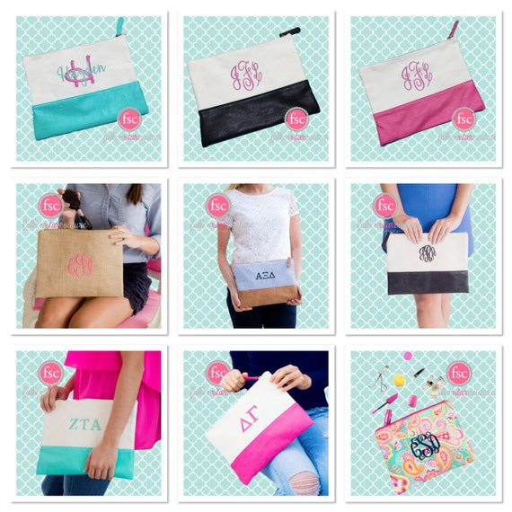 bridesmaid gift , cosmetic bag , bridesmaid make-up bags, monogrammed bag, wedding bag , bridesmaid gifts , personalized bridesmai